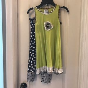 CUTE Boutique Girls Mis Tee V-Us 2PC Outfit 6/7